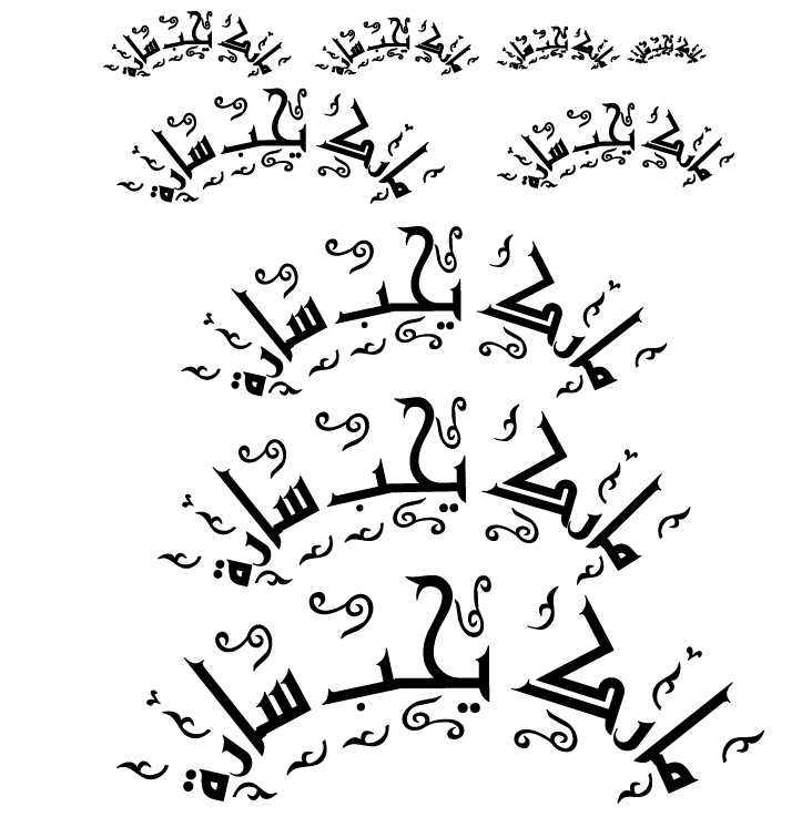 Arabic Tattoos and Calligraphy | Phrases for Occasions | Good luck Artwork